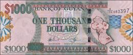 TWN - GUYANA 38b - 1000 1.000 Dollars 2009 Prefix A/104 - Signatures: Williams & A. Singh - Printer: DLR UNC - Guyana