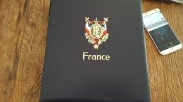 LOT 378339 ALBUM DE TIMBRE DAVO LUXE ET ETUI DE FRANCE VIDE ANNEE 1991 A 2000 PORT 10 EUROS - Verzamelingen (in Albums)