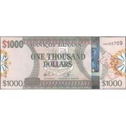 TWN - GUYANA 39 - 1000 1.000 Dollars 2011 Prefix AW - Signatures: Williams & A. Singh - Printer: G&D UNC - Guyana