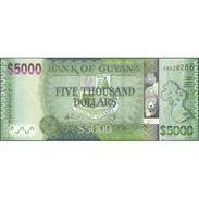 TWN - GUYANA 40 - 5000 5.000 Dollars 2013 Prefix AN - Signatures: Williams & A. Singh UNC - Guyana
