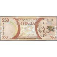 TWN - GUYANA 41 - 50 Dollars 2016 50th Ann. Of Independence - Prefix AA - Signatures: Ganga & Jordan UNC - Guyana