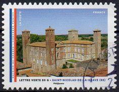 """AA1207- Série """" Les Mairies De France : St Nicolas De La Grave - Oblitéré(cachet Rond) - 2015 - Gebruikt"""