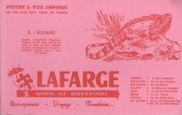 "BUVARD ROSE ""LAFARGE"" - N° 5 IGUANE - Animals"