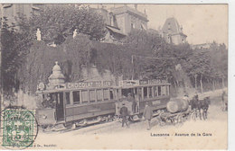Lausanne - Avenue De La Gare Avec Tram - 1907        (P-101-60725) - VD Vaud