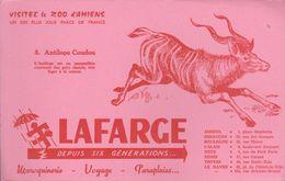 """BUVARD ROSE """"LAFARGE"""" - N° 8 ANTILOPE COUDOU - Animals"""