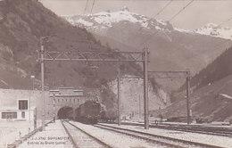 Goppenstein - Tunnel-Eingang Mit Zug - 1913        (P-101-60725) - VS Valais