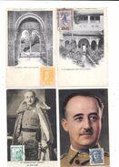 10312 - Lot De 4 CPA D'ESPAGNE,oblitérations De Complaisance, Général FRANCO - Espagne