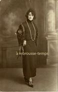 Carte Photo-en 1924-femme élégante Avec Fourrure-Marcelle, Envoi à Mr Et Mme Lamotte à Harfleur-mode - Anonyme Personen
