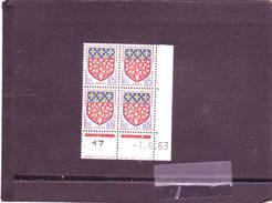 N° 1352 - 0,05F Blason D'AMIENS - D De C+D - 2° Tirage Du 30.5.63 Au 19.6.63 - 7.06.1963 - - 1960-1969