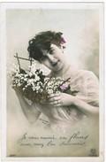 CPA Fille Avec Des Fleurs, Bloemen, Girl With Flowers, Arjalew Photo. (pk41241) - Autres Photographes