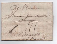 1783 - LETTRE De STRASBOURG (BAS RHIN) Avec MP LENAIN N° 26 Pour BRIGNOLES (VAR) - 1701-1800: Precursors XVIII