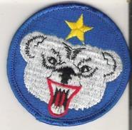 "Bear Badge Patch  Diam. 6.5 Cm  2.7"" - Animals"