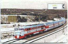 ES.- TELEFONICA. SPANJE. TALGO III. VIRGEN Del ROSARIO. 1000 Pta. 6,01 €. 2 Scans - Treinen