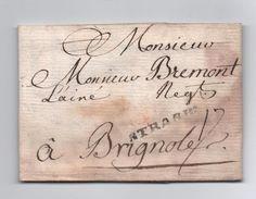 1747 - RARE LETTRE De STRASBOURG (BAS RHIN) Avec MP LENAIN N° 11 Pour BRIGNOLES (VAR) - 1701-1800: Precursors XVIII