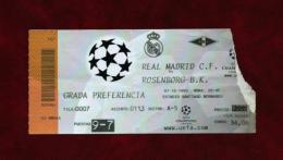Real Madrid - Rosenborg B.K. (Ticket) Año 1999 - Tickets - Entradas