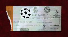 Real Madrid - Bayern Munich (Ticket) Año 2000 - Tickets - Entradas