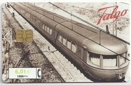 ES.- TELEFONICA. SPANJE. TALGO. VIRGEN Del PILAR. 1000 Pta. 6,01 €. 2 Scans - Treinen