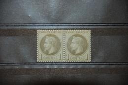 Y&T 25 En Paire - Napoléon III Lauré - Empire Français - 1863-1870 Napoléon III Lauré