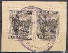 Dos Sellos 5 Cts GUINEA ESPAÑOLA, Colonia, Sobrecarga Republica, Edifil Num 218 º - Guinea Espagnole