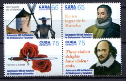 Cuba 2016 / William Shakespeare & Miguel De Cervantes MNH Don Quijote / Cu6016  2 - Escritores