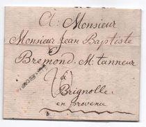 1783 - LETTRE De STRASBOURG (BAS RHIN) Avec MP LENAIN N° 24 Ou 25 Ou 26 Pour BRIGNOLES (VAR) - 1701-1800: Precursors XVIII