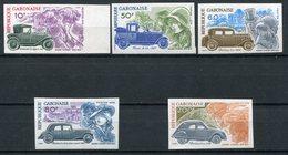 1978 - GABON- AUTOS-CITROEN - 5 VAL .IMPERF.  -M.N.H.- LUXE !! - Gabon (1960-...)