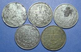 BULGARIA - GERMANY LOT OF 5 X 1 LEVA 1941 IRON BETTER QUALITY - Bulgaria
