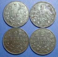 BULGARIA - GERMANY LOT OF 4 X 2 LEVA 1941 IRON BETTER QUALITY - Bulgaria