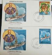 RO) 1978 IVORY COAST, OIL - DRILL SHIPS, FDC XF - Ivory Coast (1960-...)