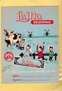 Protege Cahier : Chocolaterie Laitta Delespaul  Vache Et Moulins - Protège-cahiers