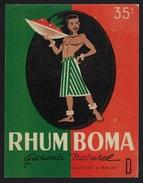 "Etiquette Rhum  Boma Garanti Naturel  Duquesne à Bruit  ""homme Torse Nu "" - Rhum"