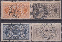 SUECIA SERVICIOS 1891 Nº15/18 USADO - Revenue Stamps