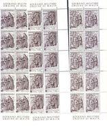 SMOM SOVRANO MILITARE ORDINE DI MALTA  1969  NATALE BLOCCO DI 10+10FOGL - Malte (Ordre De)