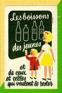 Buvard & Blotting Paper : Les Boissons Des Jeunes Eau Lait Jus De Pommes - Limonades