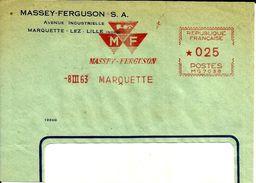 Lettre  EMA Havas Mg 7038 Massey Ferguson Marquette  Theme Transport Agriculture Tracteur    B/1176 - Marcophilie (Lettres)