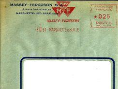 Lettre  EMA Havas Mg 7038 Massey Ferguson Marquette  Theme Transport Agriculture Tracteur    B/1177 - Marcophilie (Lettres)