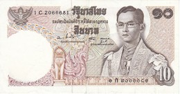 BILLETE DE TAILANDIA DE 10 BAHT AÑOS 1969-78 EN CALIDAD EBC+  (BANKNOTE) - Tailandia