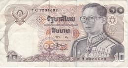 BILLETE DE TAILANDIA DE 10 BAHT   (BANKNOTE) - Tailandia