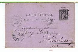 CPA-ENTIER POSTAL-1880-VOIR TIMBRE ET TAMPONS- - Entiers Postaux