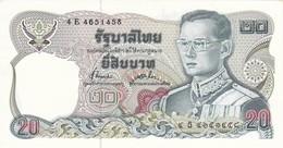 BILLETE DE TAILANDIA DE 20 BAHT DEL AÑO 1981 EN CALIDAD EBC (XF)  (BANKNOTE) - Tailandia
