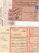 Documents Commerciaux Et Facture De La Compagnie Singer Y Compris Enveloppe Avec En Tête - Textile & Clothing