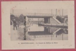 25 - MONTBELIARD--Le Canal Du Rhone Au Rhin- -animé - Montbéliard