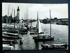 (FG.A23) RIMINI - PORTO CANALE Animata Barche (VIAGGIATA 1968) - Rimini