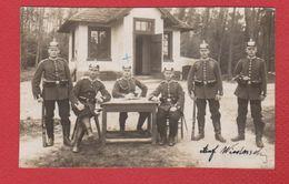 Karlsruhe  -- Carte Photo  --  Soldats Allemands --  27/4/1914 - Karlsruhe