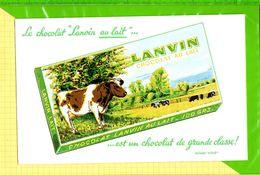 BUVARD & Blotting Paper : Le Chocolat LANVIN  Au Lait Vaches - Cocoa & Chocolat