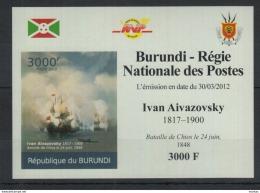 U59. Burundi - MNH - Art - Ivan Aivazovsky - 2012 - Deluxe - Imperf - Arts