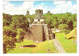 Guatemala - Templo De Las Mascaras - Ruinas De Tikal En Peten - Nice Stamps - Guatemala