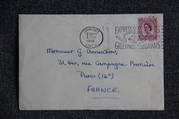 Lettre De GRANDE BRETAGNE ( GRIMSBY ) Vers FRANCE - 1952-.... (Elizabeth II)