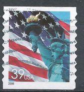 United States 2006. Scott #3981 (U) Flag And Statue Of Liberty - Roulettes