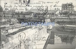 83030 FRANCE PARIS METROPOLITAN IN BASTILLE TRAMWAY SPOTTED CIRCULATED TO BOLIVIA POSTAL POSTCARD - France